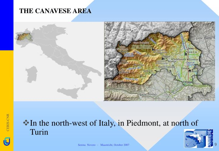 THE CANAVESE AREA