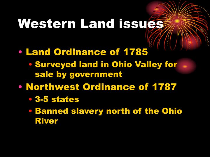Western Land issues