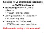 existing rfcs about measurement in gmpls networks