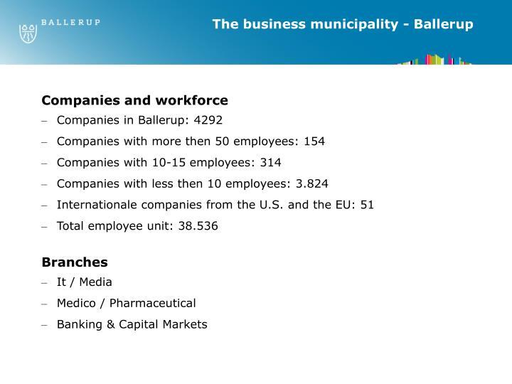 The business municipality - Ballerup