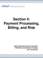 section 4 payment processing billing and risk