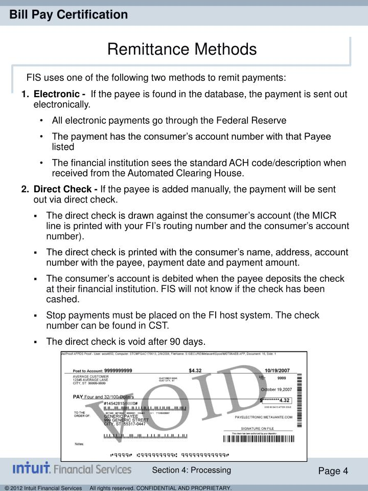 Remittance Methods