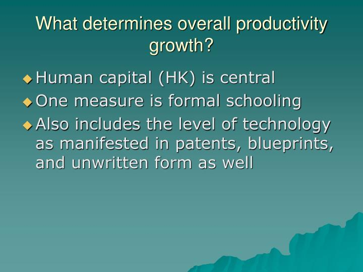 What determines overall productivity growth?