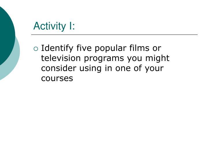 Activity I: