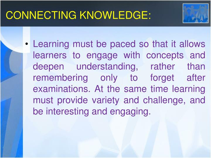 CONNECTING KNOWLEDGE: