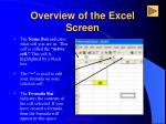 overview of the excel screen3