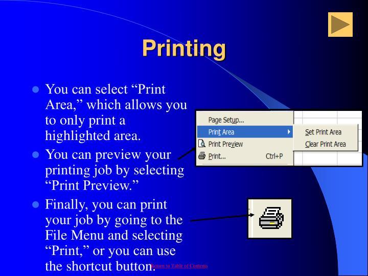 Printing