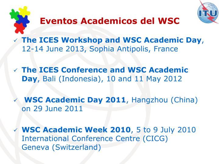 Eventos Academicos del WSC