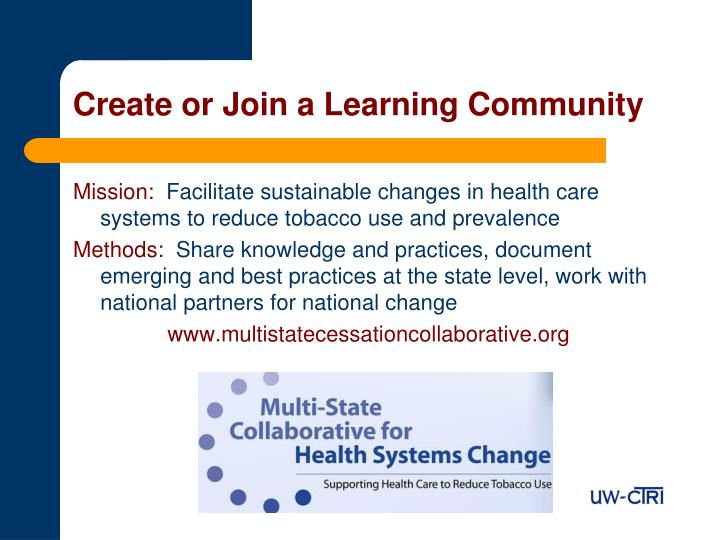 Create or Join a Learning Community
