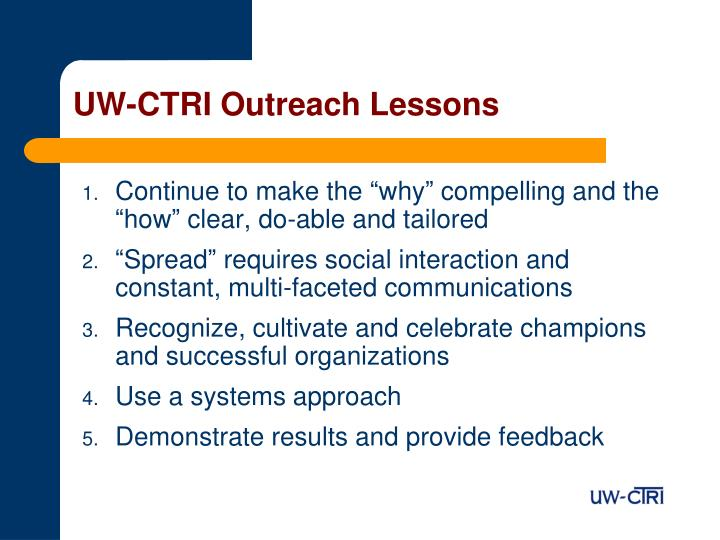 UW-CTRI Outreach Lessons