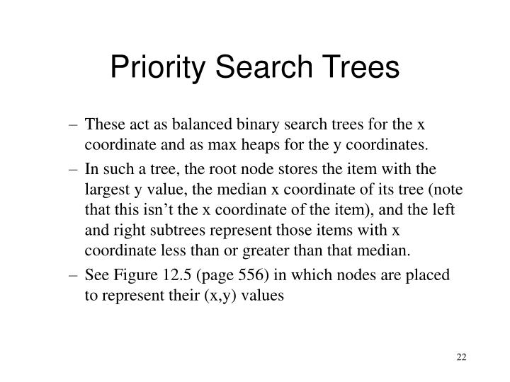 Priority Search Trees