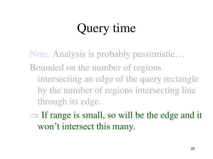 Query time