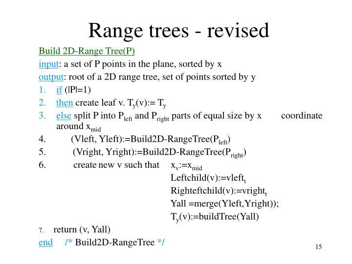 Range trees - revised
