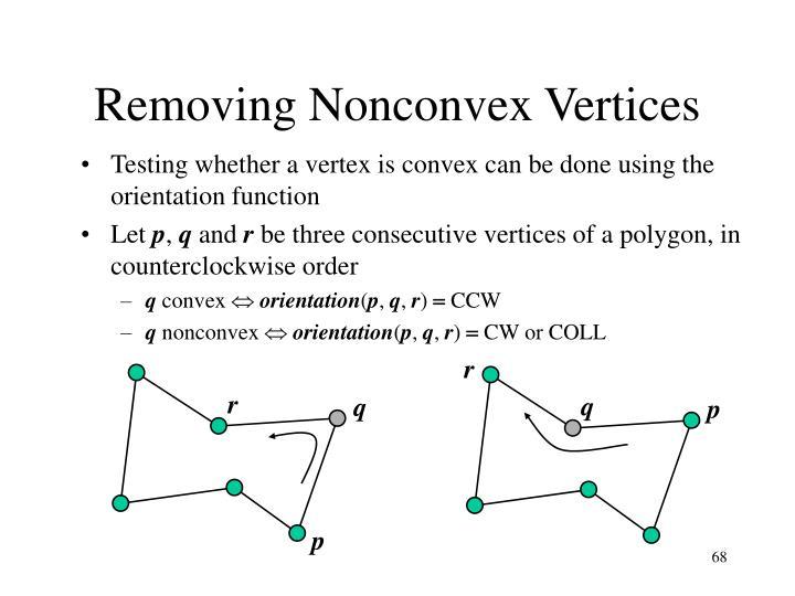 Removing Nonconvex Vertices