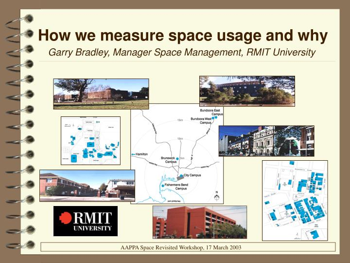 How we measure space usage and why
