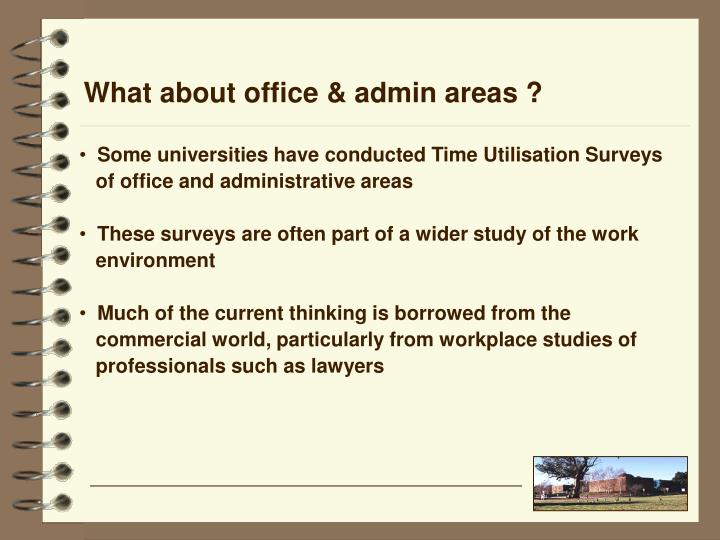What about office & admin areas ?