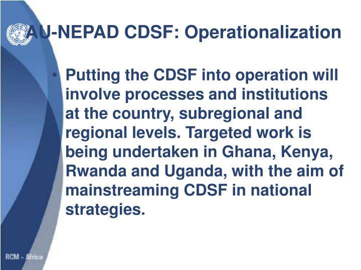 AU-NEPAD CDSF: Operationalization