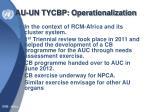 au un tycbp operationalization