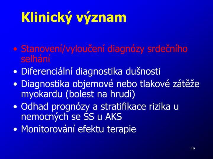 Klinický význam