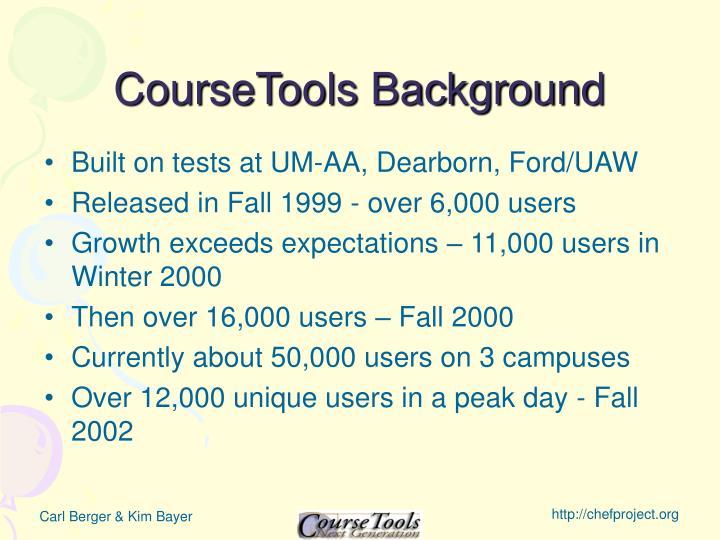 CourseTools Background