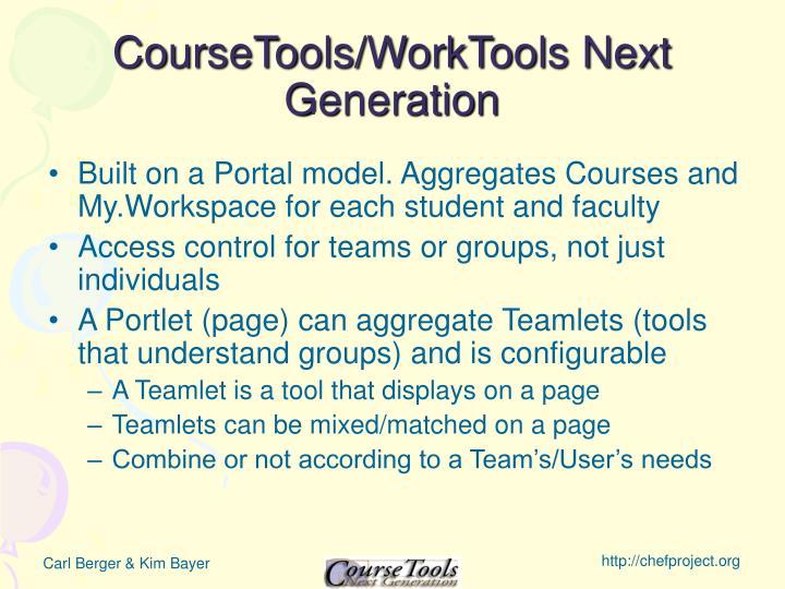 CourseTools/WorkTools Next Generation