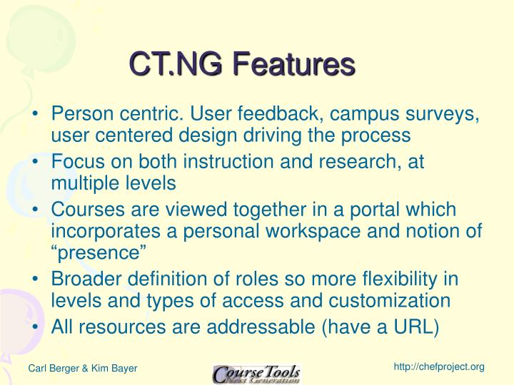 CT.NG Features