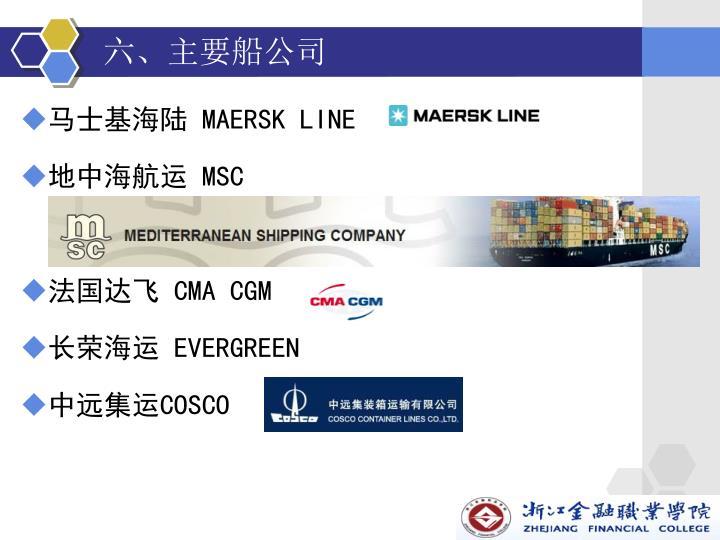 六、主要船公司