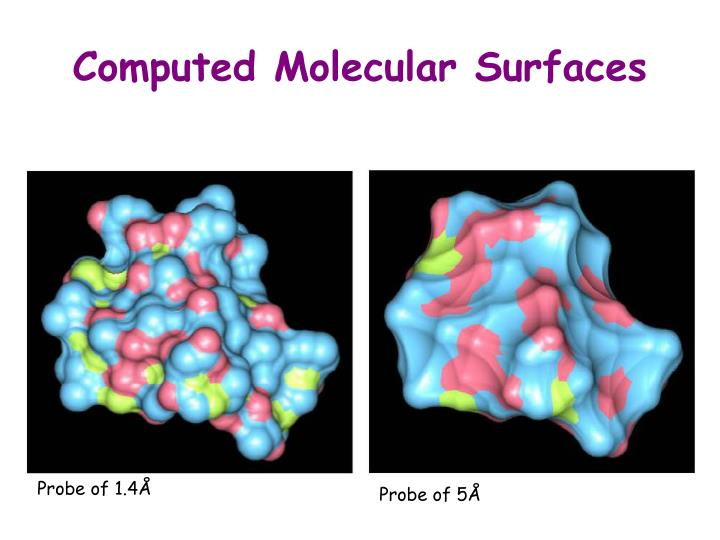 Computed Molecular Surfaces