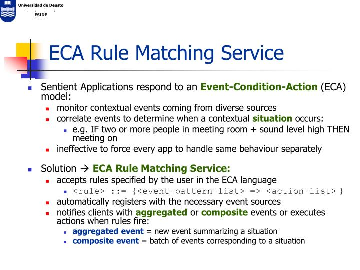ECA Rule Matching Service