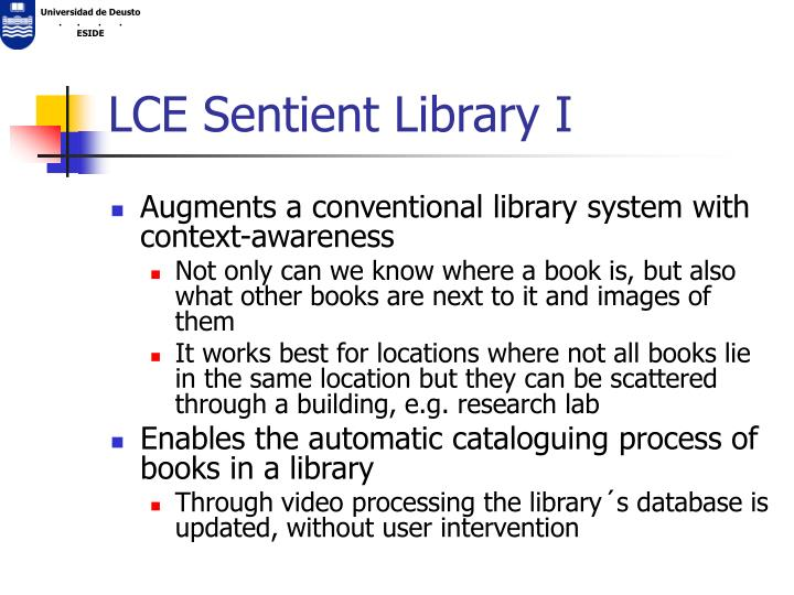 LCE Sentient Library I