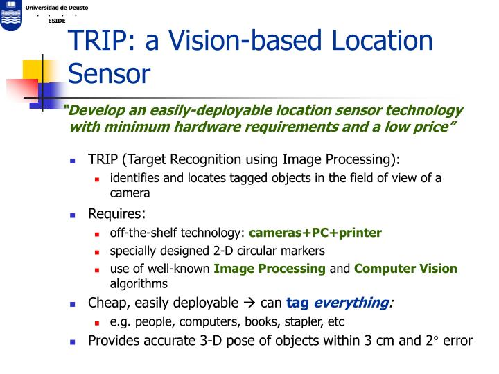TRIP: a Vision-based Location Sensor