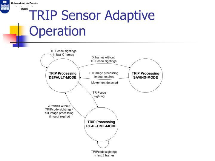 TRIP Sensor Adaptive Operation