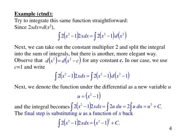 Example (ctnd):