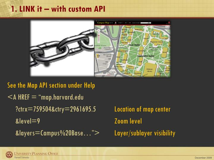 1. LINK it – with custom API