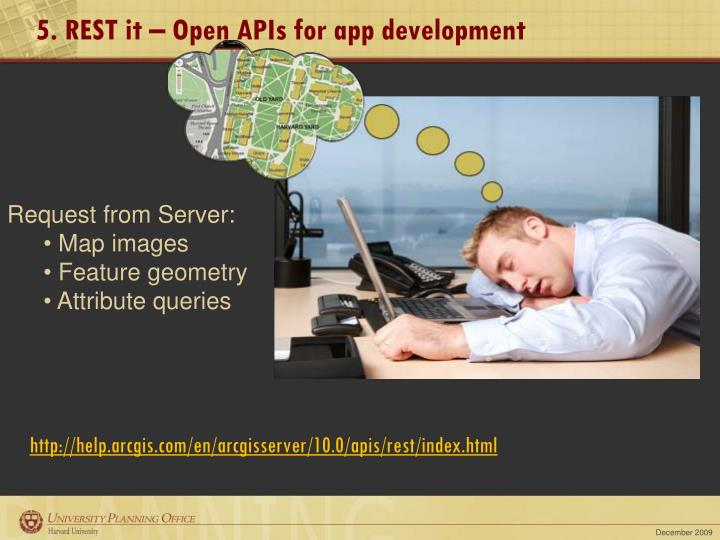 5. REST it – Open APIs for app development