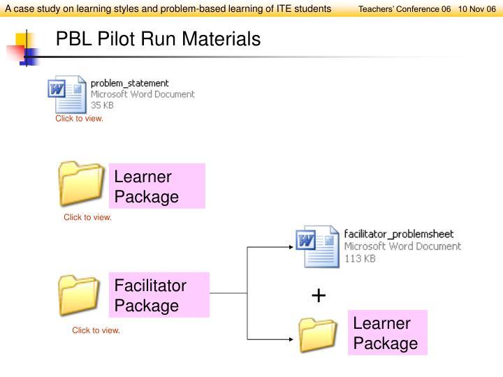 Learner Package