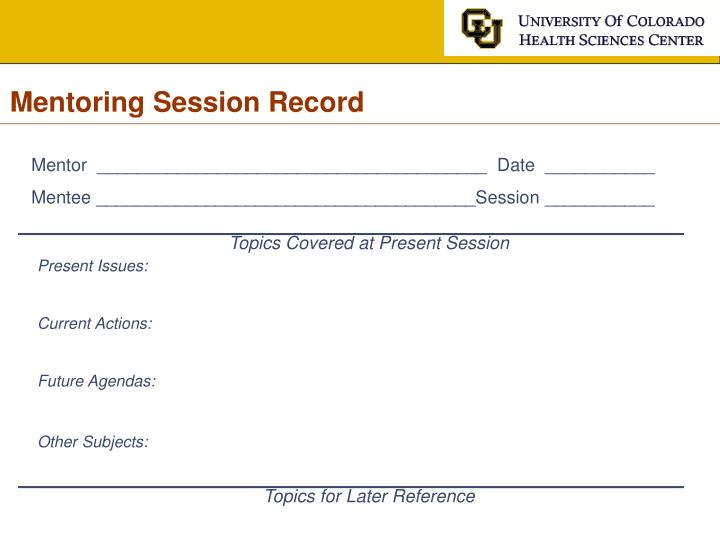 Mentoring Session Record