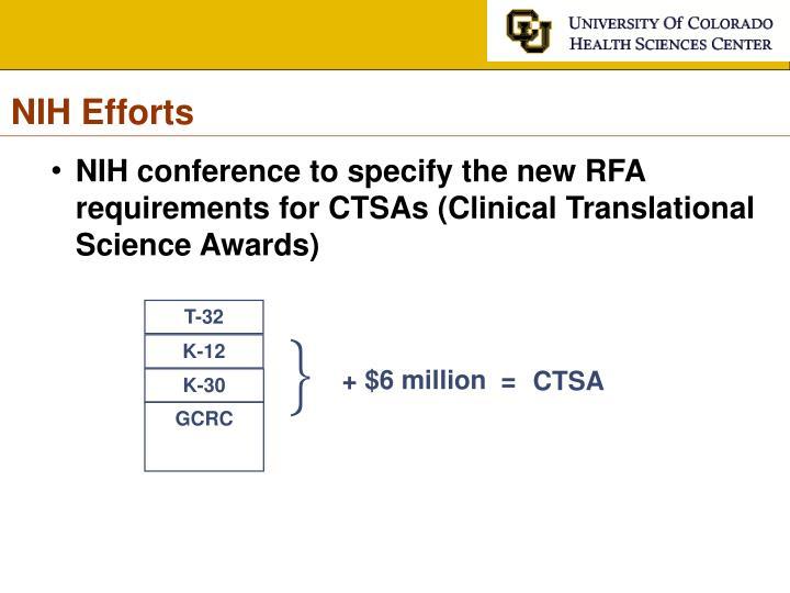 NIH Efforts