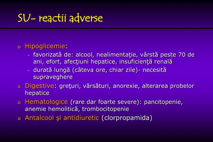 SU- reactii adverse