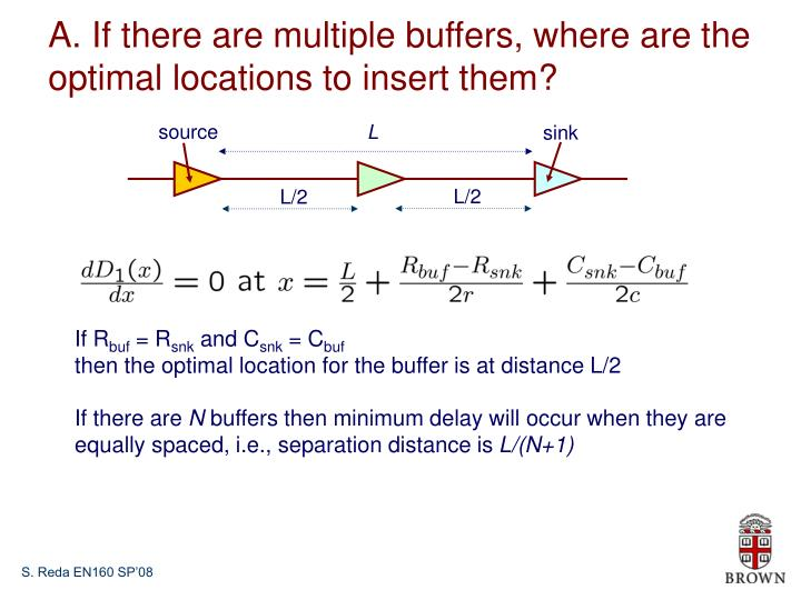 A. If there are multiple buffers, where are the optimal locations to insert them?