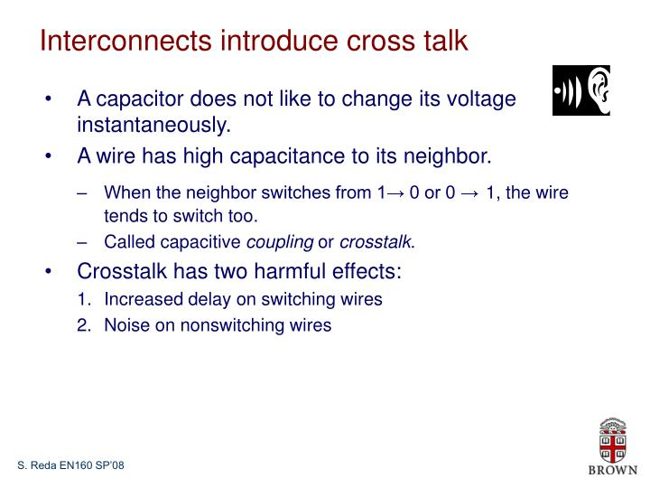 Interconnects introduce cross talk