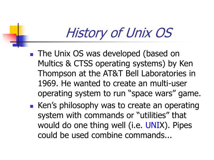History of Unix OS
