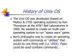 history of unix os1