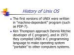 history of unix os2