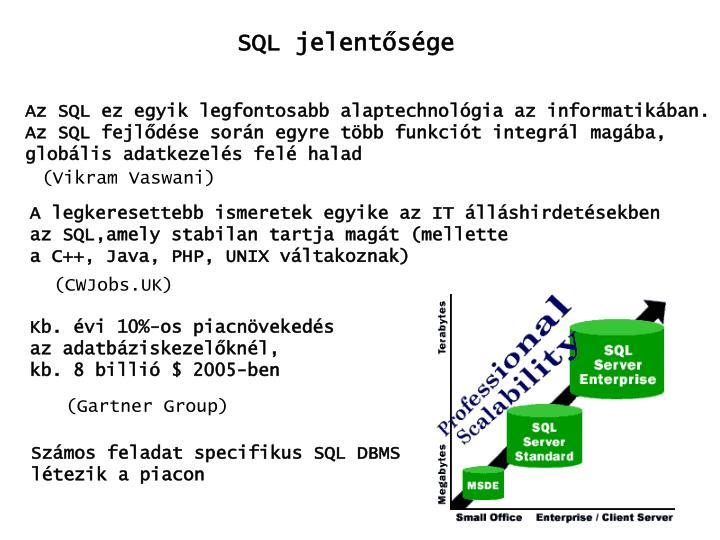 SQL jelentősége