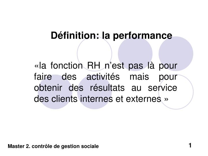 D finition la performance