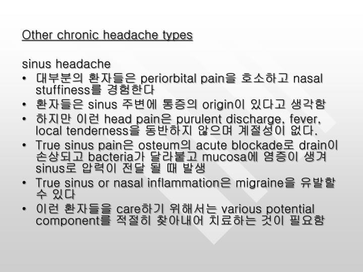 Other chronic headache types