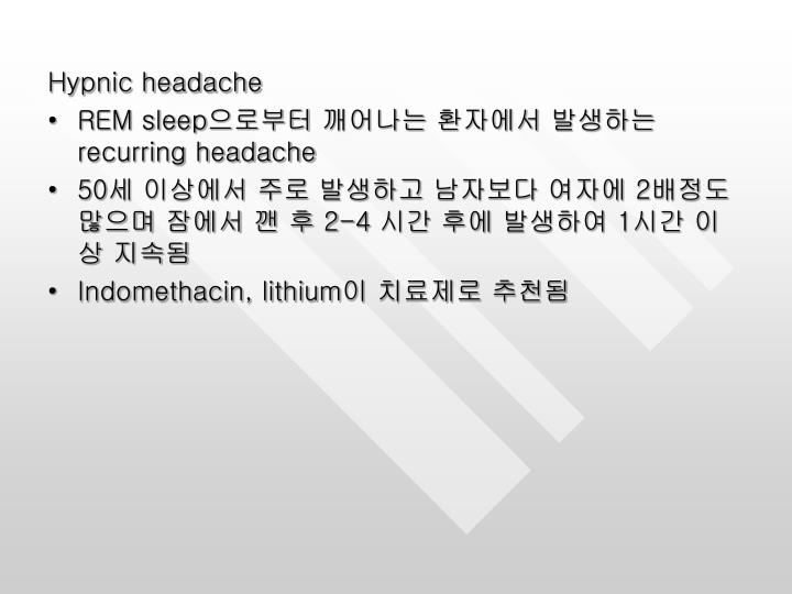 Hypnic headache