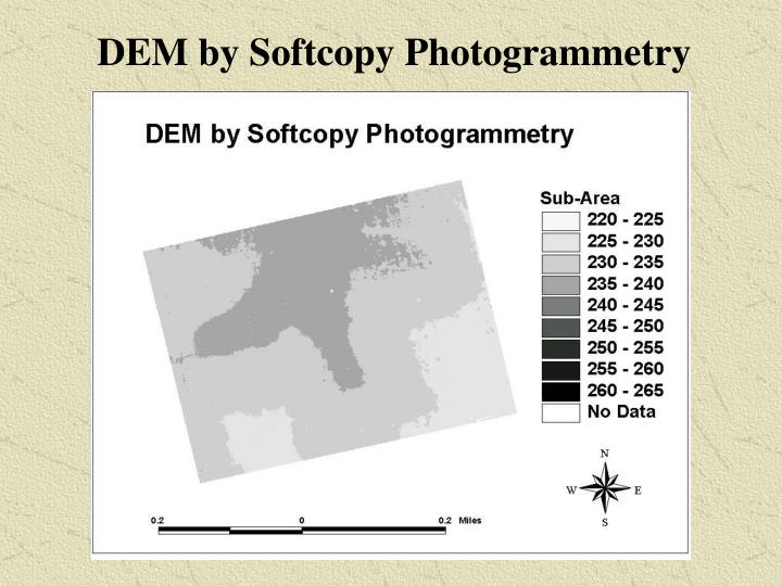 DEM by Softcopy Photogrammetry
