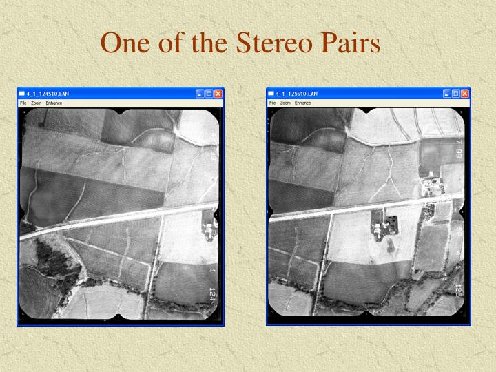 One of the Stereo Pairs